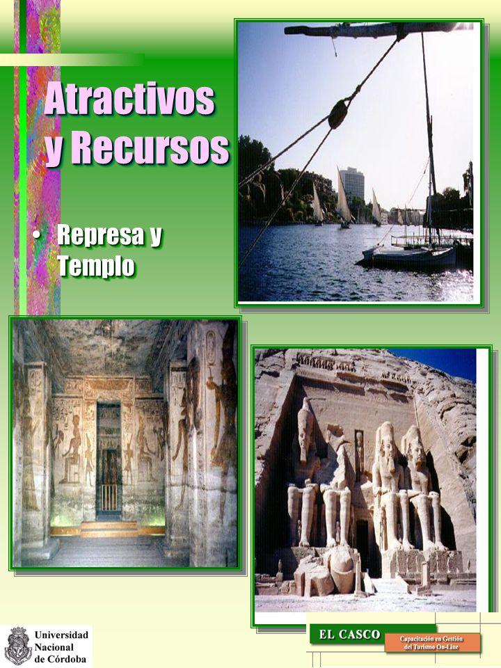 Atractivos y Recursos Represa y TemploRepresa y Templo