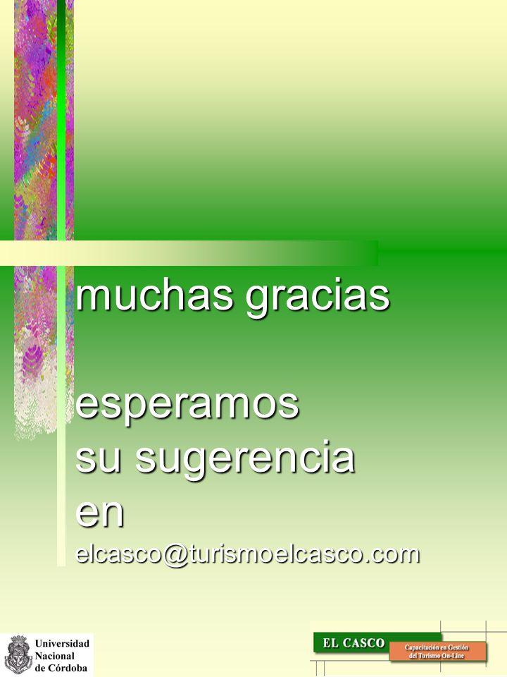 muchas gracias esperamos su sugerencia en elcasco@turismoelcasco.com