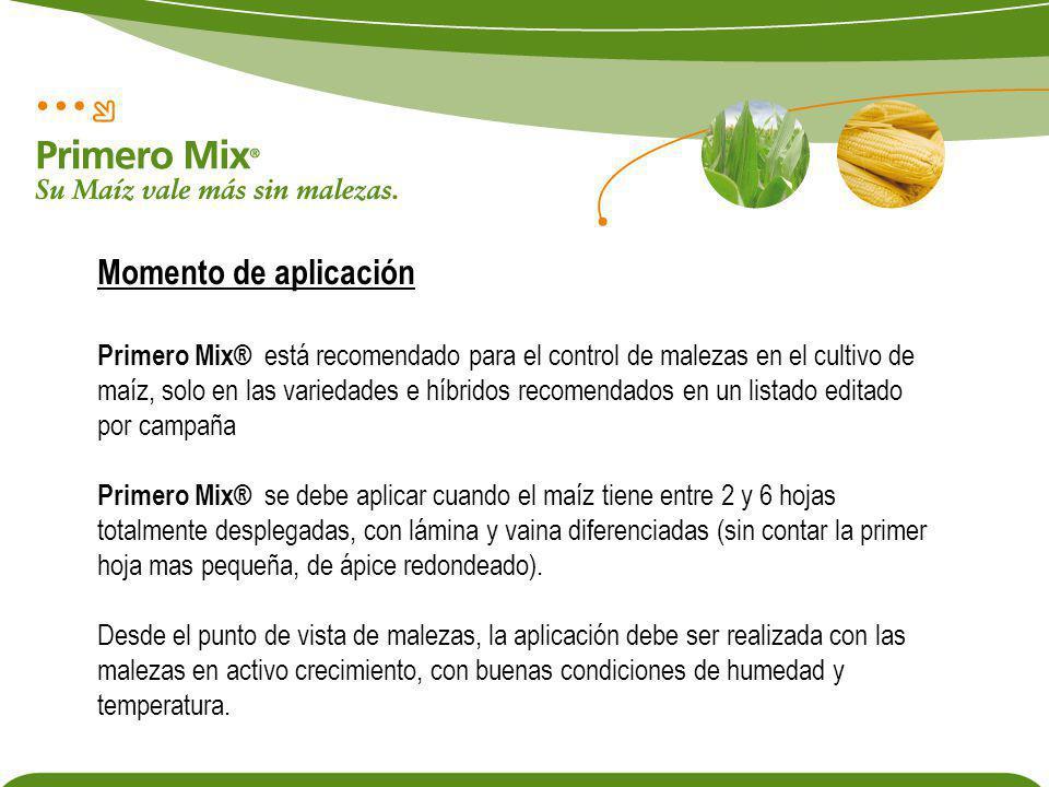 Primero Mix® está recomendado para el control de malezas en el cultivo de maíz, solo en las variedades e híbridos recomendados en un listado editado p