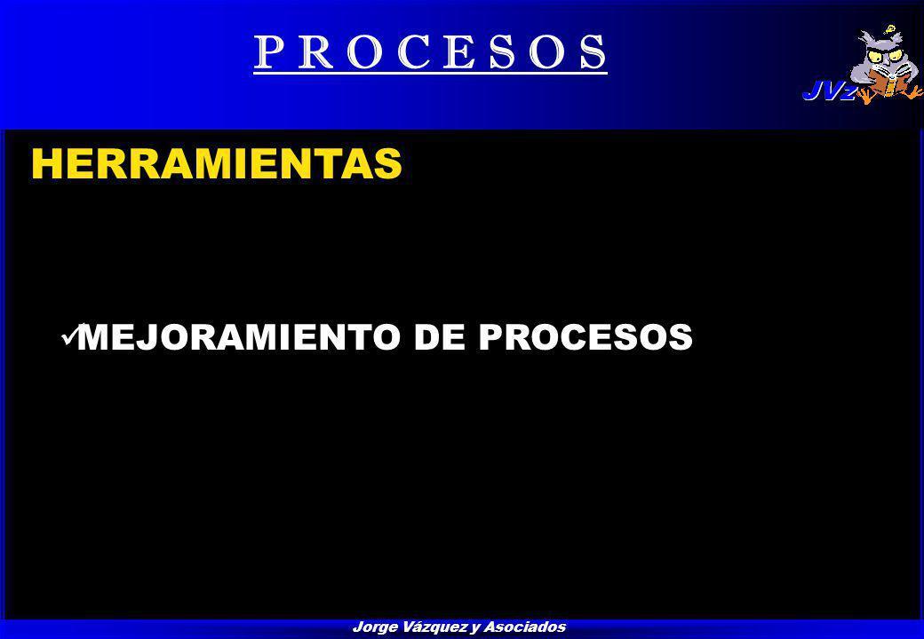 Jorge Vázquez y Asociados P R O C E S O S HERRAMIENTAS MEJORAMIENTO DE PROCESOS