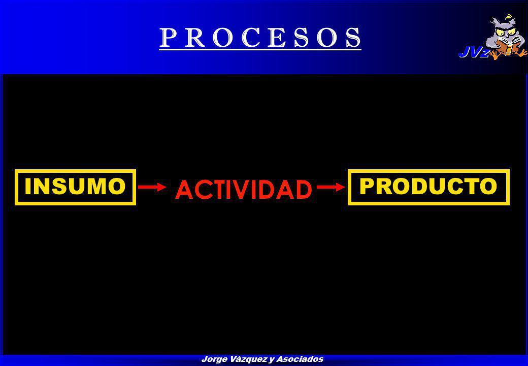 Jorge Vázquez y Asociados P R O C E S O S INSUMOPRODUCTO ACTIVIDAD