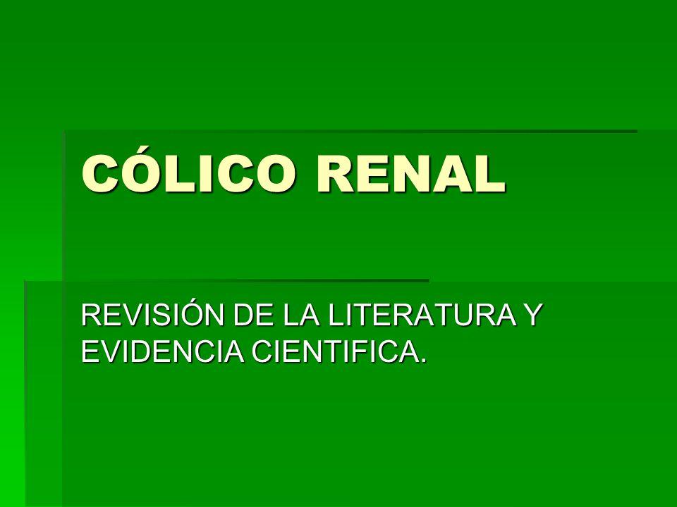 CÓLICO RENAL REVISIÓN DE LA LITERATURA Y EVIDENCIA CIENTIFICA.