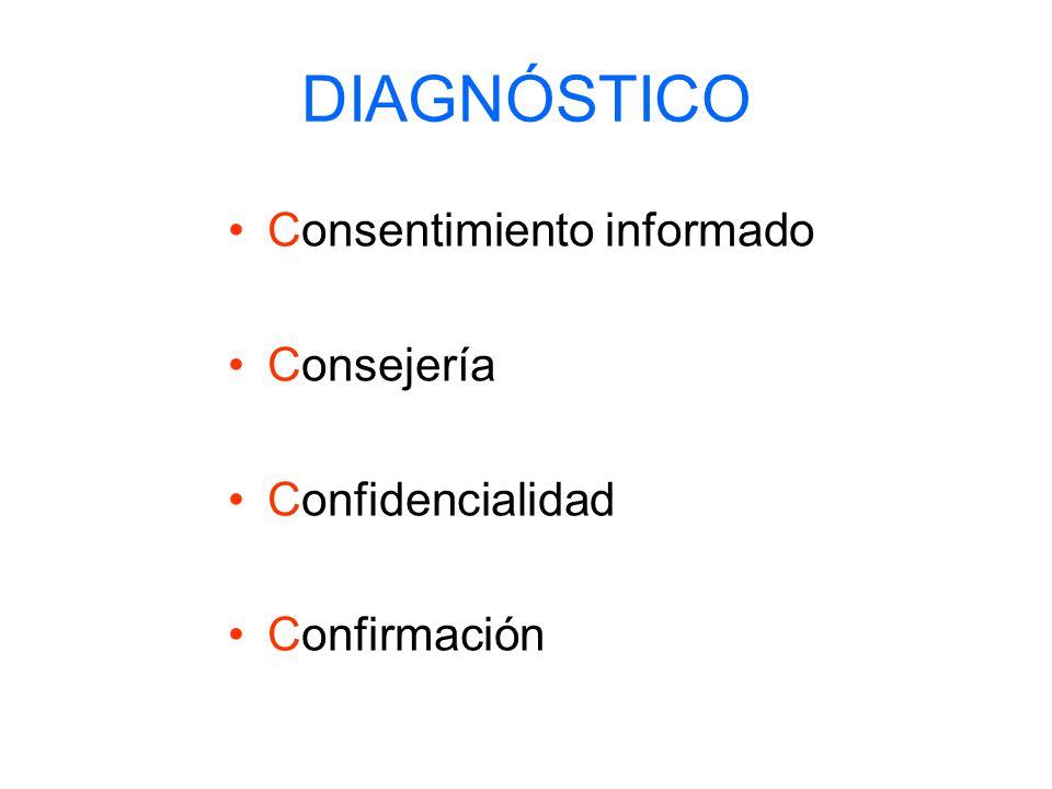 DIAGNÓSTICO Consentimiento informado Consejería Confidencialidad Confirmación
