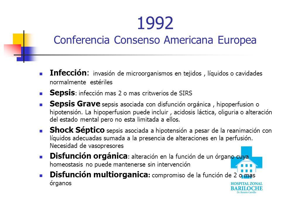 ¿Sepsis, un evento súbito? Progresión de SIRS a Shock Séptico…… 68% Mortalidad 7% SIRS 16% Sepsis 20% Sepsis Grave 46% Shock Séptico