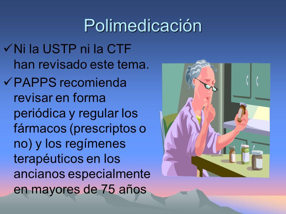 Polimedicación Ni la USTP ni la CTF han revisado este tema.
