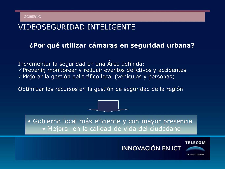 VIDEOSEGURIDAD INTELIGENTE ¿Por qué utilizar cámaras en seguridad urbana.