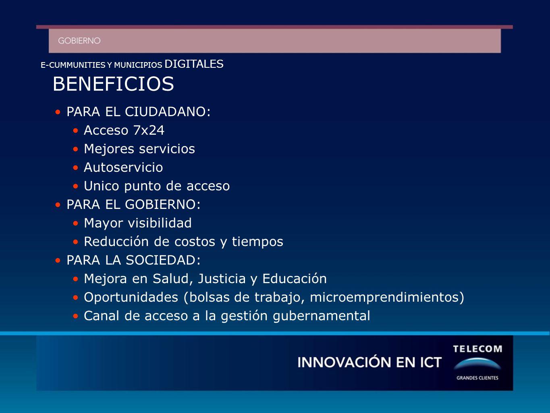 e-community Portal PUNTO DE ACCESO a una e-community Infraestructura de comunicaciones Infraestructura: Puntos de acceso: PCs, kioskos,, Callcenter, TV interactiva.