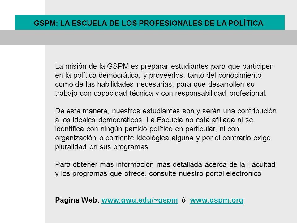 La misión de la GSPM es preparar estudiantes para que participen en la política democrática, y proveerlos, tanto del conocimiento como de las habilida