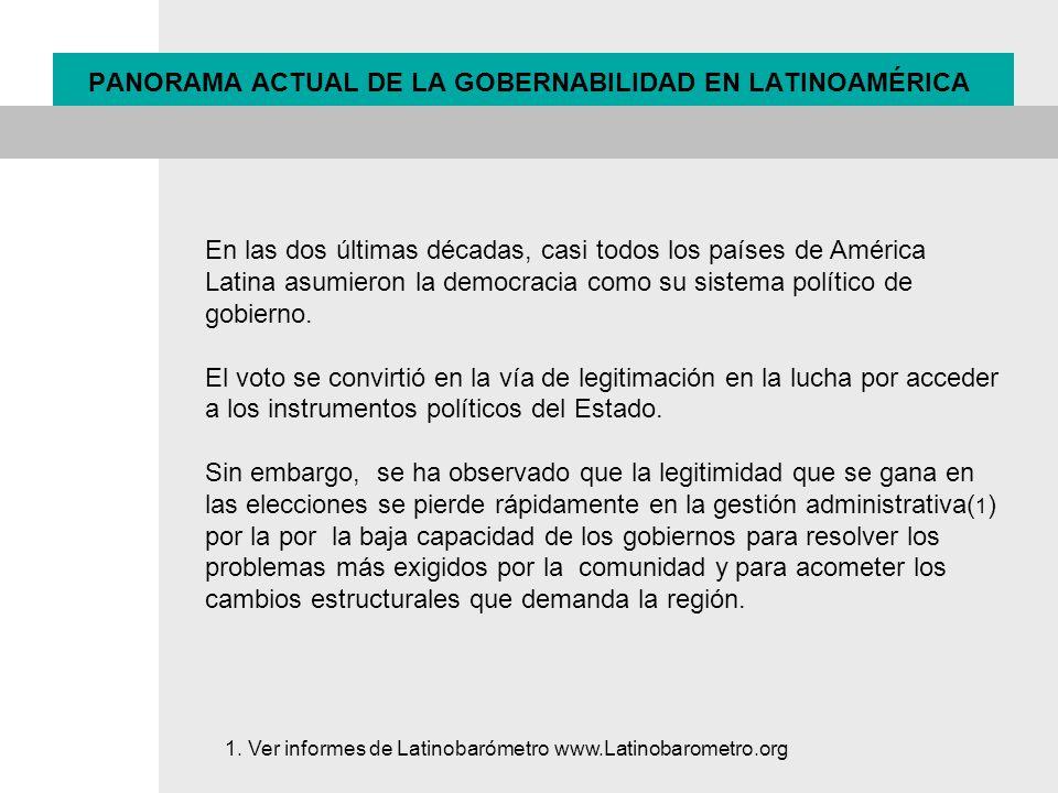 En las dos últimas décadas, casi todos los países de América Latina asumieron la democracia como su sistema político de gobierno. El voto se convirtió