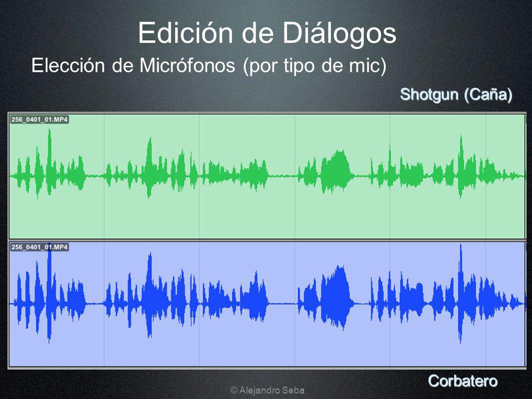 Elección de Micrófonos (por tipo de mic) Edición de Diálogos Corbatero Shotgun (Caña) © Alejandro Seba
