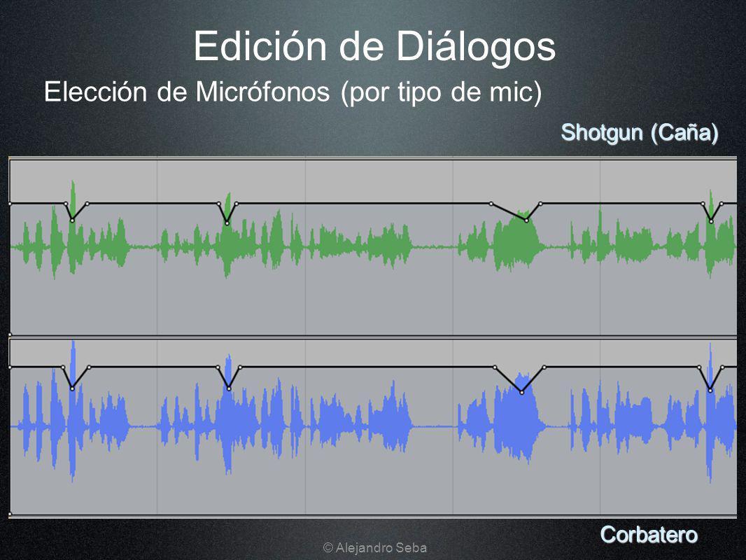 Edición de Diálogos Corbatero Shotgun (Caña) Elección de Micrófonos (por tipo de mic) © Alejandro Seba