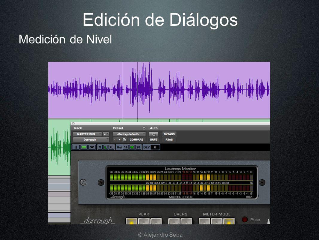 Medición de Nivel Edición de Diálogos © Alejandro Seba
