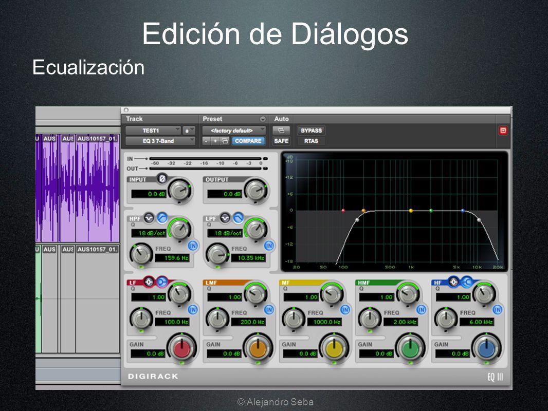 Ecualización Edición de Diálogos © Alejandro Seba