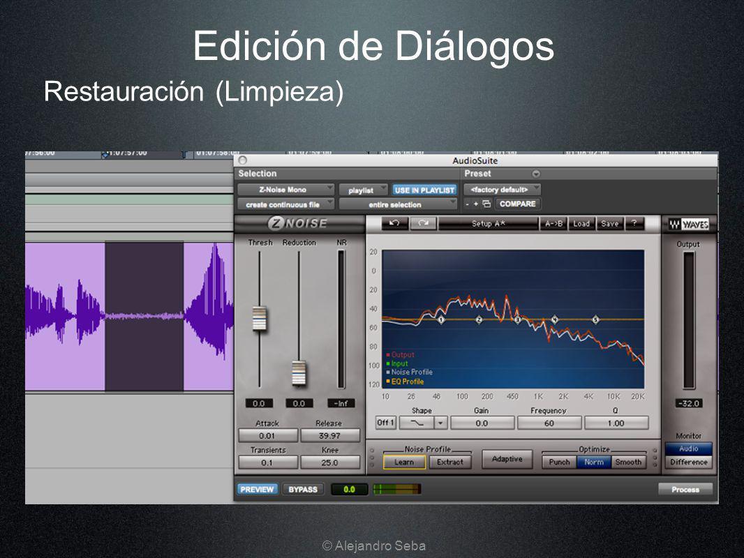 Restauración (Limpieza) Edición de Diálogos © Alejandro Seba