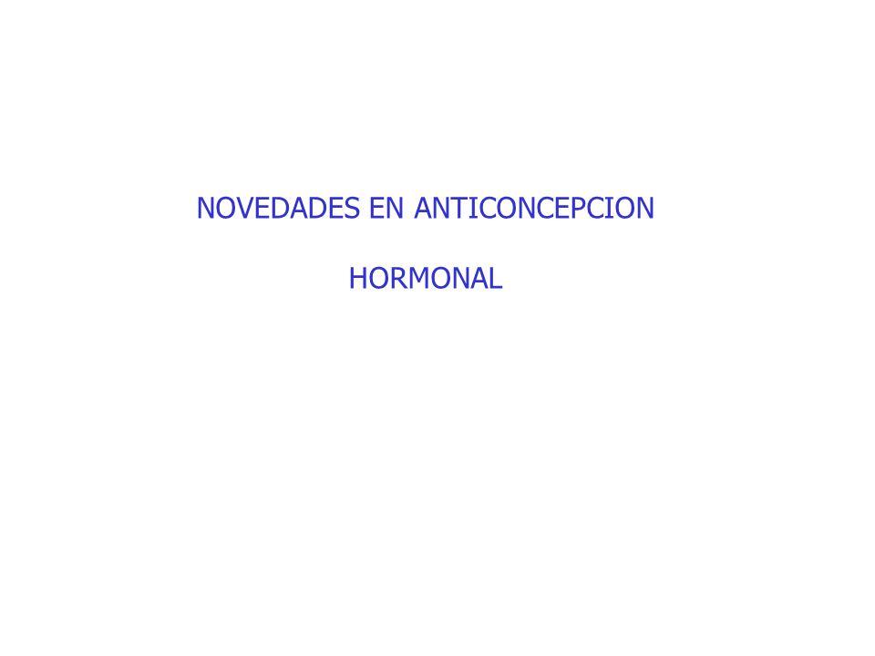 NOVEDADES EN ANTICONCEPCION HORMONAL