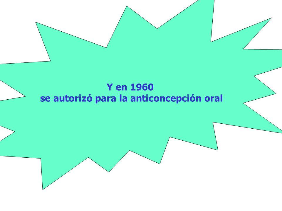 Pincus y Rock lograron en 1957 que la FDA aprobara el Enovid® (150 µg de mestranol y 9.85 mg de noretinodrel) para el tratamiento de la amenaza de aborto y los transtornos menstruales Y en 1960 se autorizó para la anticoncepción oral
