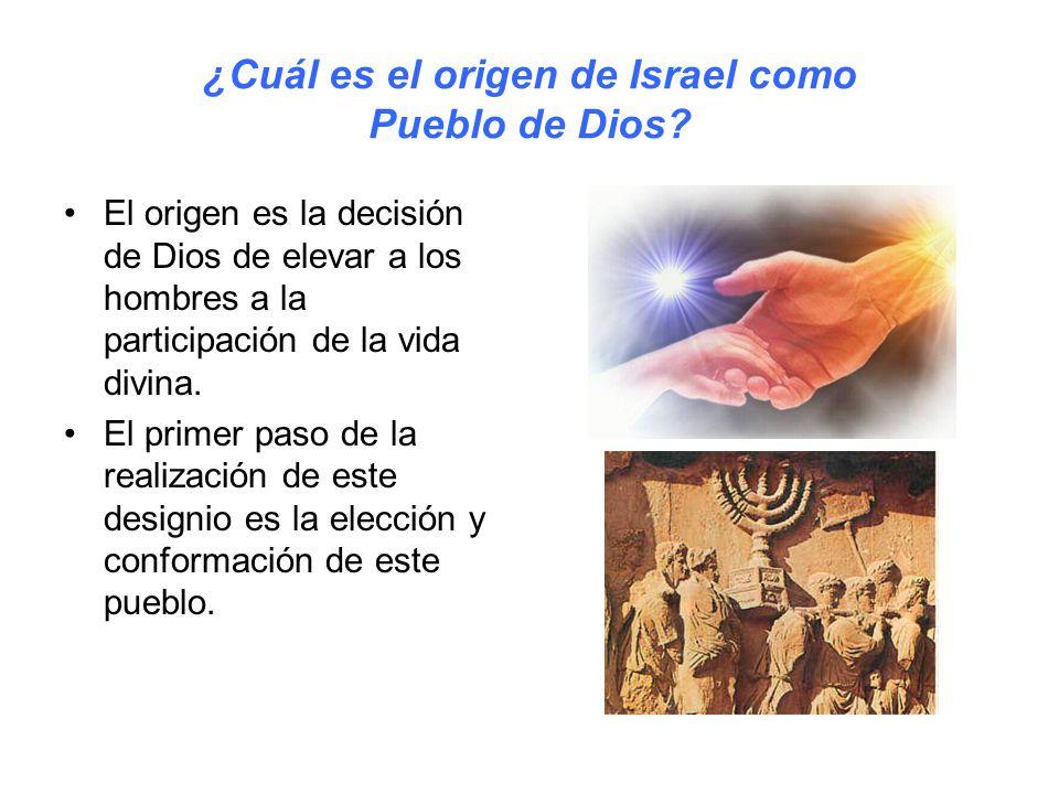 ¿Cuál es el origen de Israel como Pueblo de Dios.