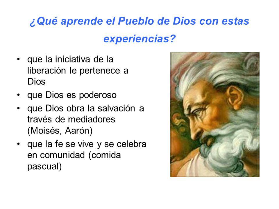 ¿Qué aprende el Pueblo de Dios con estas experiencias.