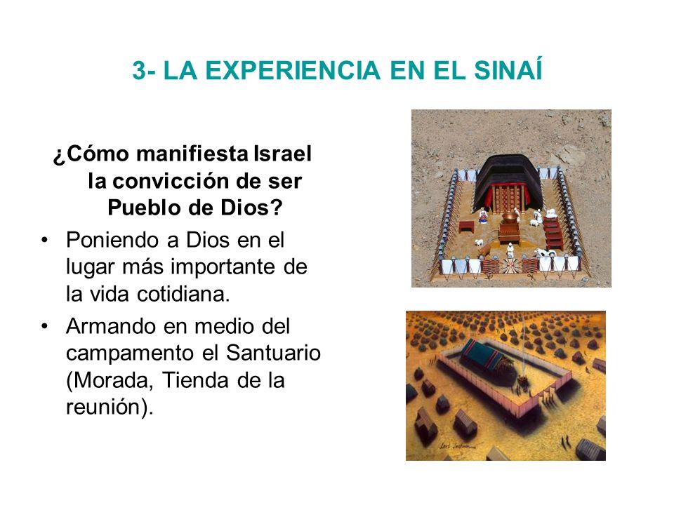 3- LA EXPERIENCIA EN EL SINAÍ ¿Cómo manifiesta Israel la convicción de ser Pueblo de Dios.
