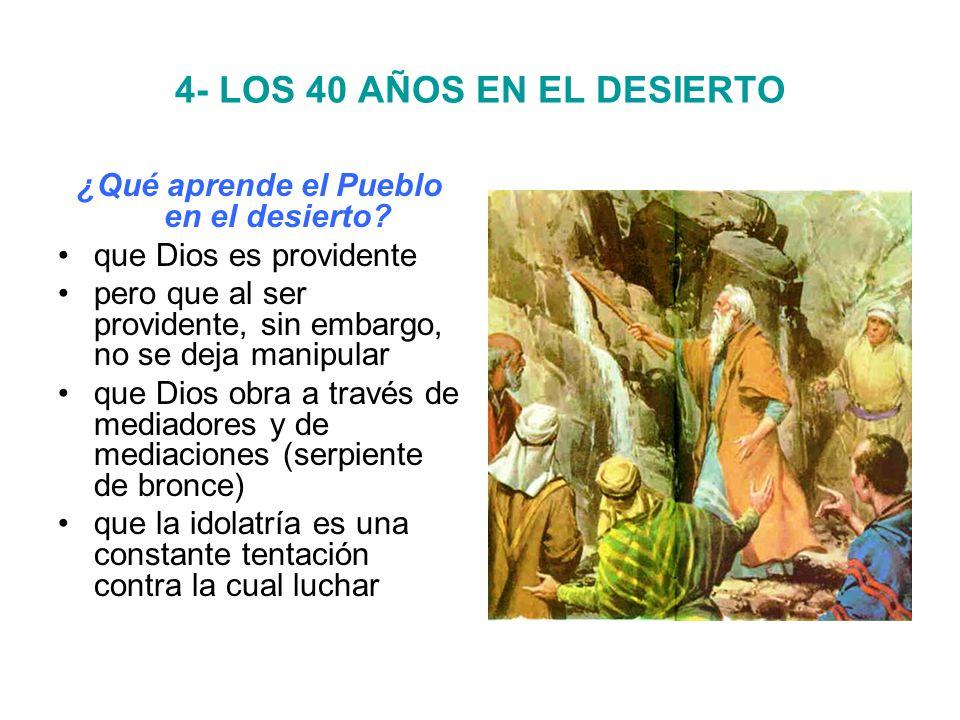 4- LOS 40 AÑOS EN EL DESIERTO ¿Qué aprende el Pueblo en el desierto.