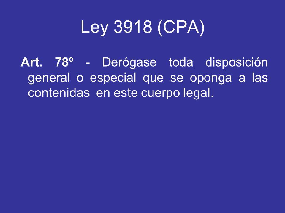Ley 3918 (CPA) Art.
