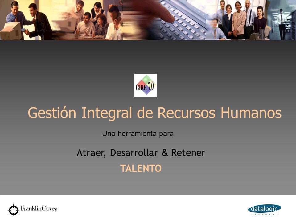 Gestión Integral de Recursos Humanos Una herramienta para Atraer, Desarrollar & Retener TALENTO