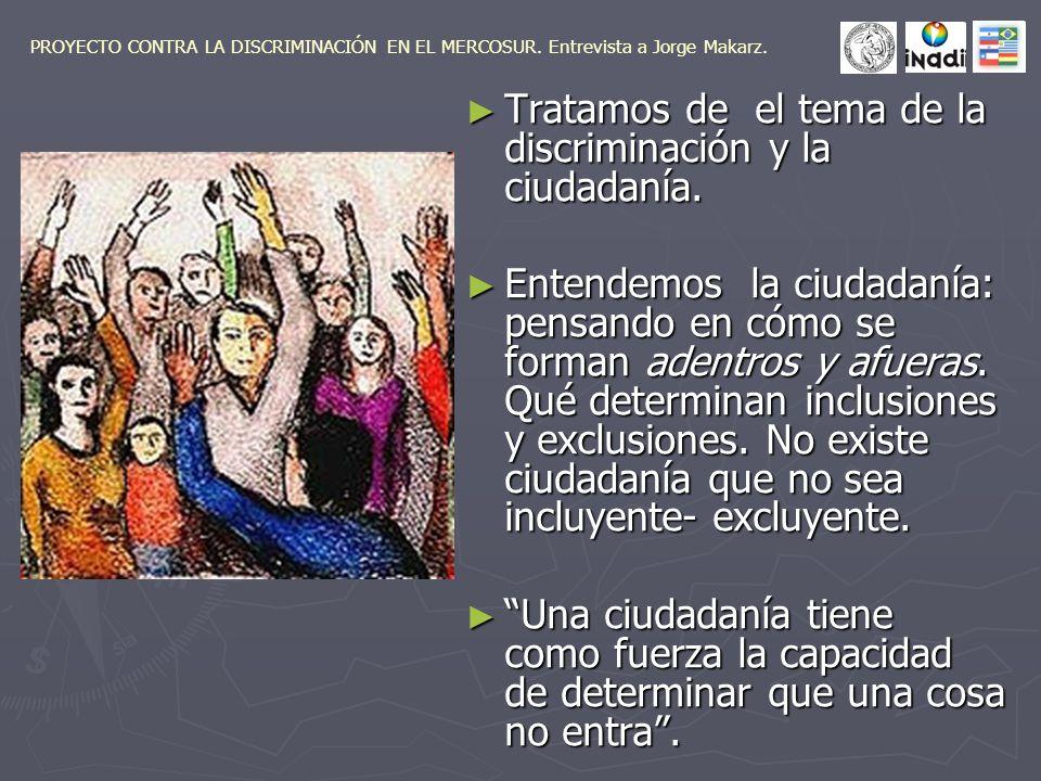 La mujer no era ciudadana hasta el 52 en Argentina y desde el 45 en Europa, antes nadie consideraba que la mujer era discriminada en sus derechos políticos.