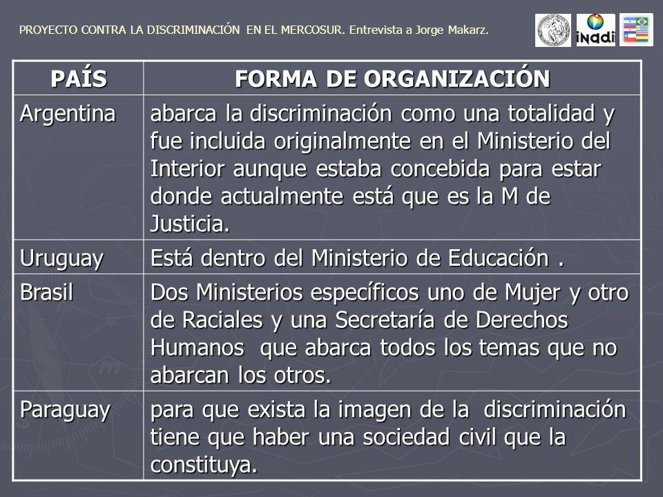 No hay políticas antidiscriminatorias ni reconocimiento de la discriminación,si no hay un Estado dispuesto a aceptar estas reglas de juego.
