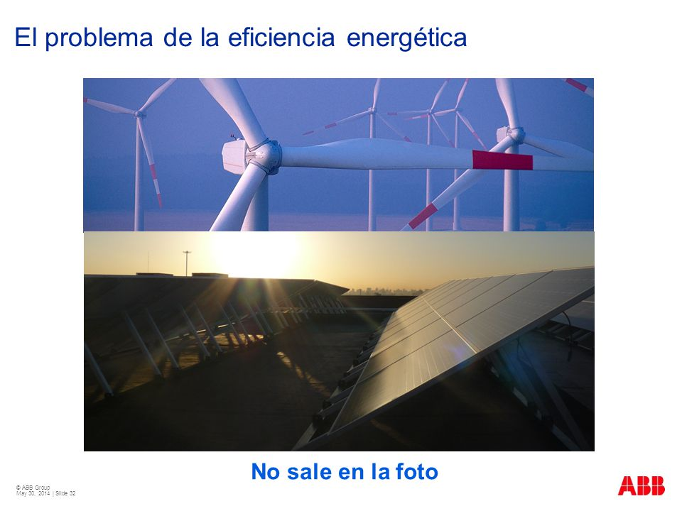 © ABB Group May 30, 2014 | Slide 32 El problema de la eficiencia energética No sale en la foto