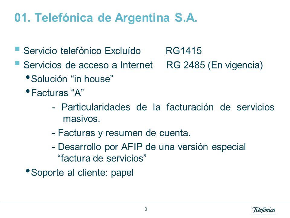 Área: Lorem ipsum Razón Social: Telefónica 4 01.Telefónica de Argentina S.A.