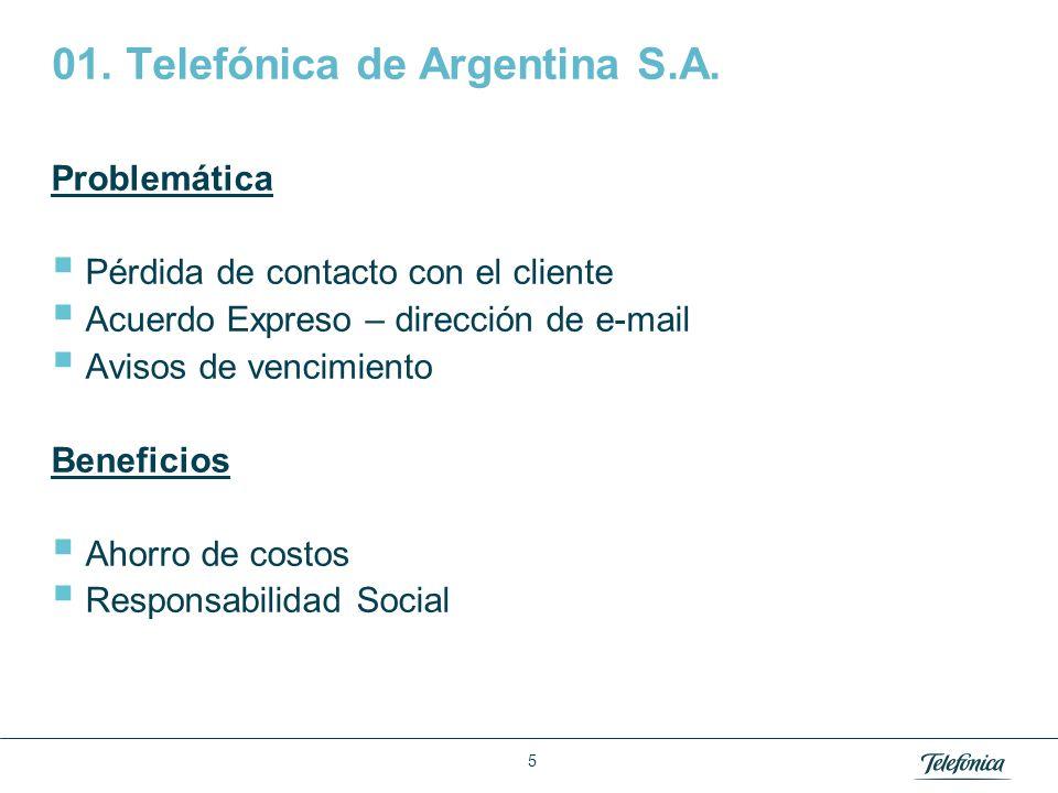 Área: Lorem ipsum Razón Social: Telefónica 6 01.Telefónica de Argentina S.A.