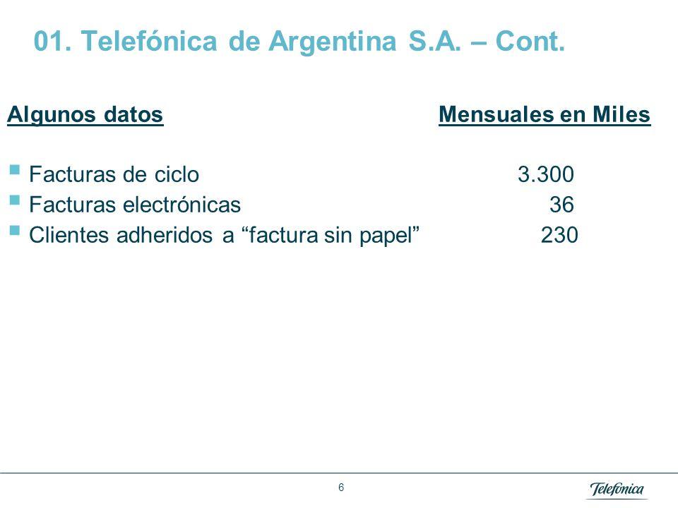 Área: Lorem ipsum Razón Social: Telefónica 02 Telefónica Móviles (Movistar)
