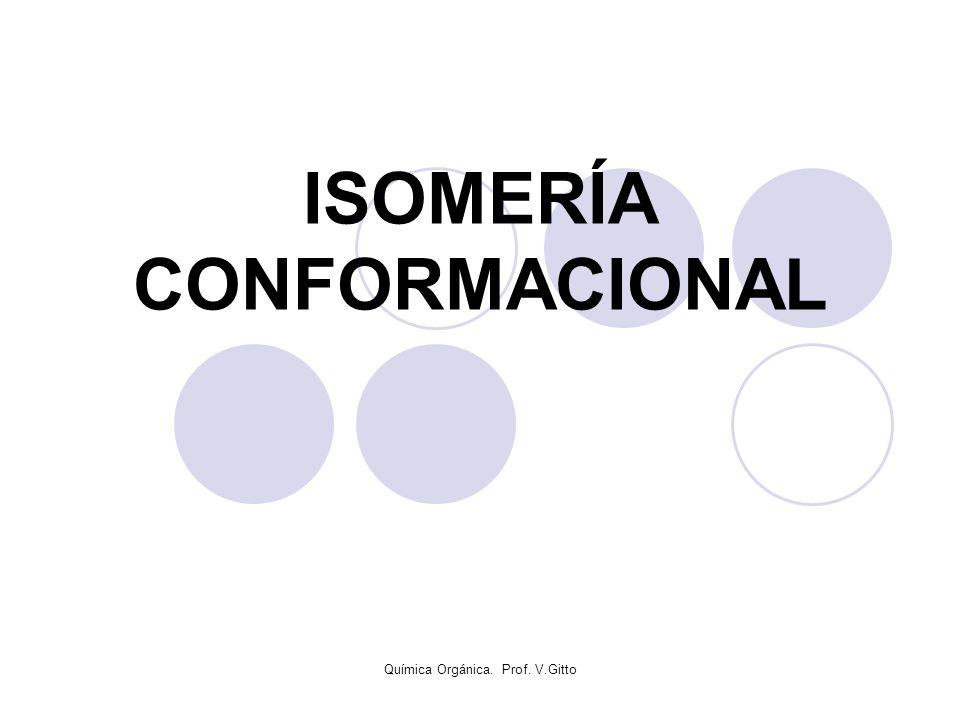 Química Orgánica. Prof. V.Gitto ISOMERÍA CONFORMACIONAL