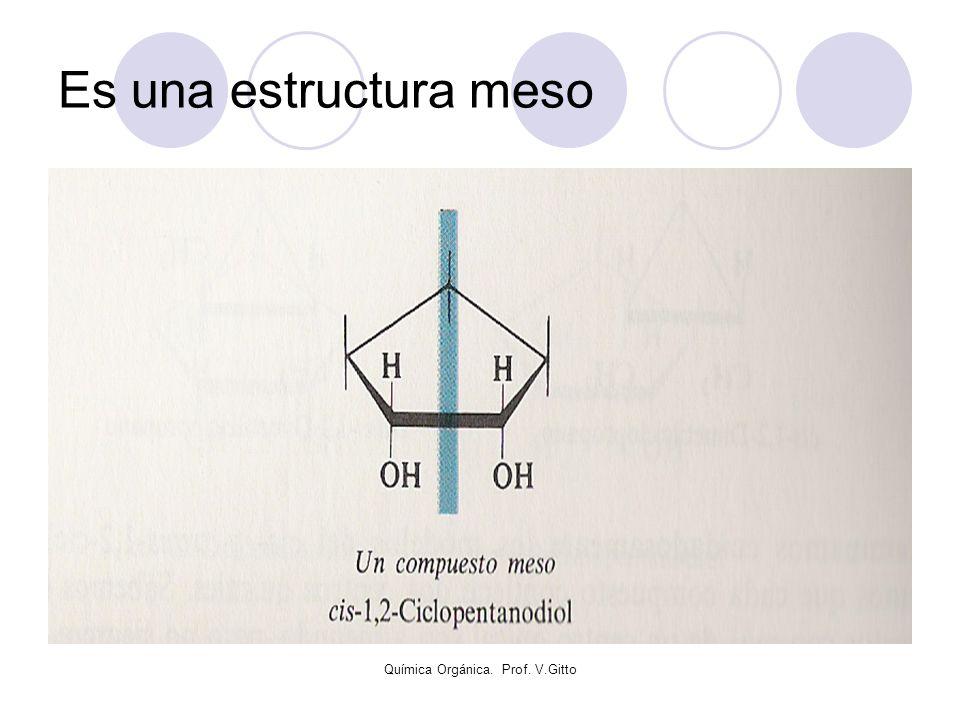 Química Orgánica. Prof. V.Gitto Es una estructura meso