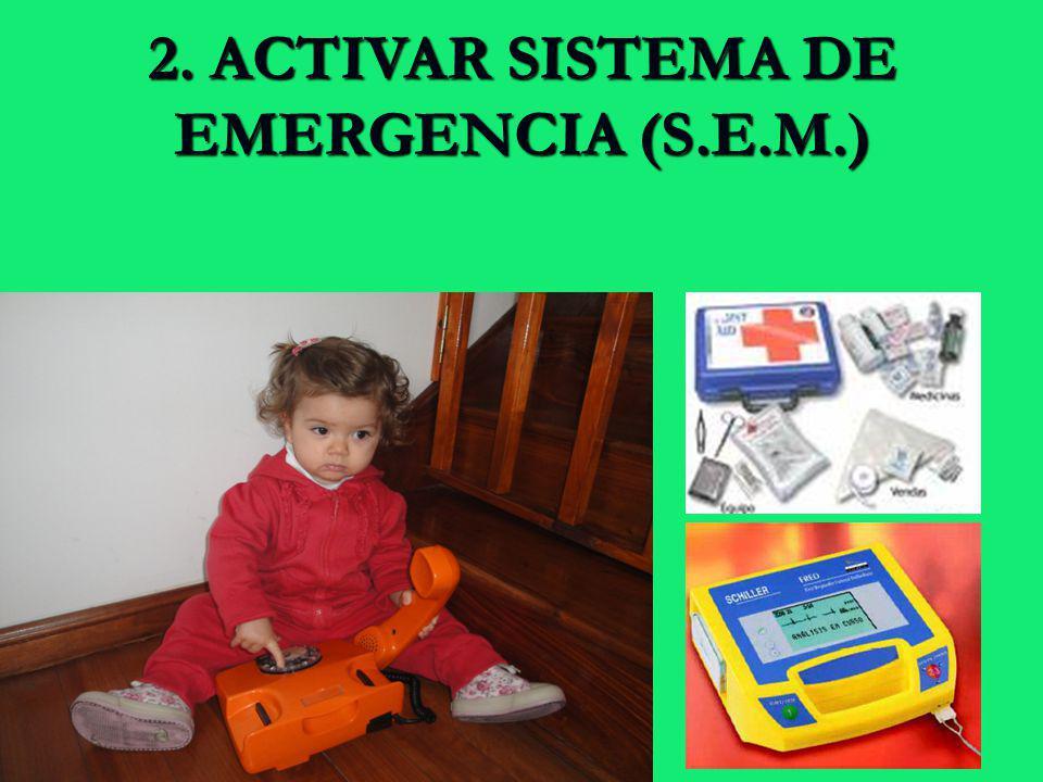 2. ACTIVAR SISTEMA DE EMERGENCIA (S.E.M.)