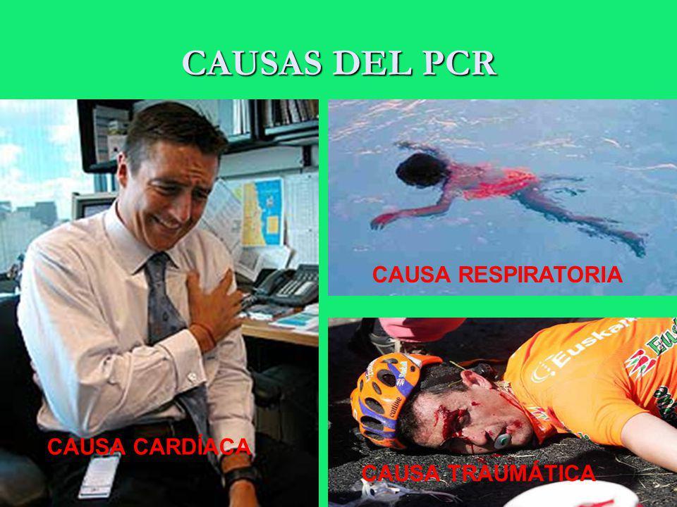 CAUSAS DEL PCR CAUSA CARDÍACA CAUSA RESPIRATORIA CAUSA TRAUMÁTICA
