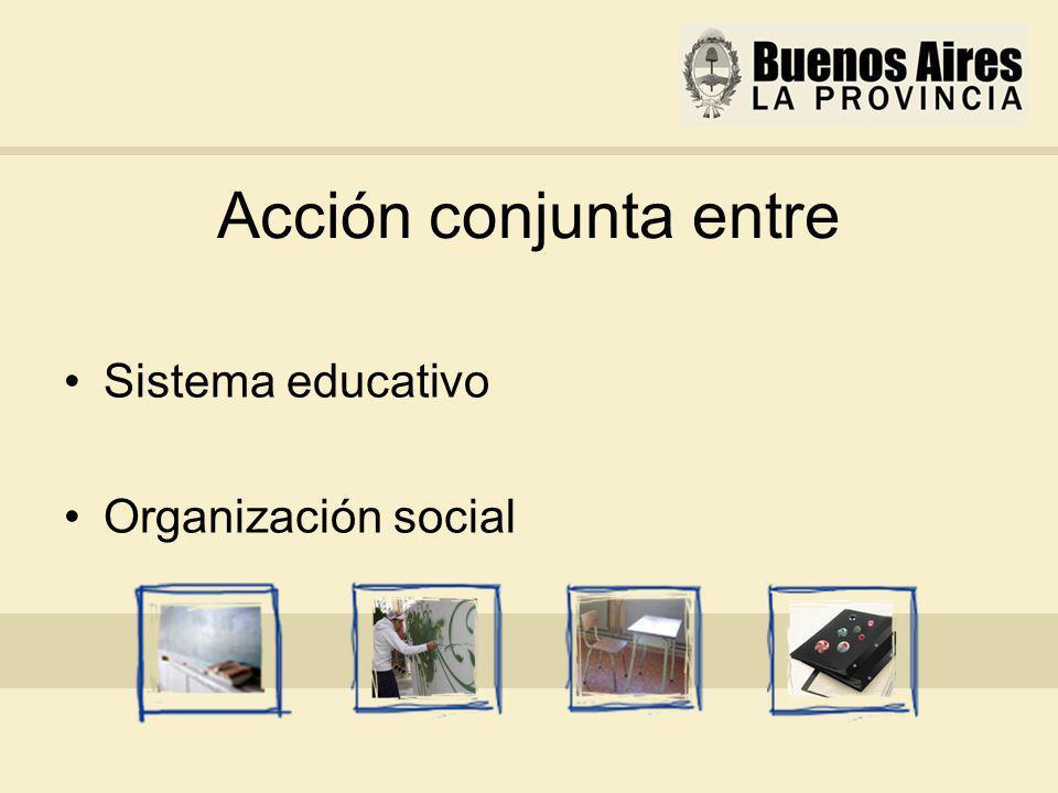 Acción conjunta entre Sistema educativo Organización social
