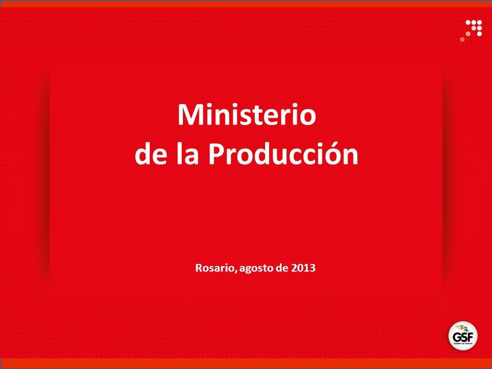 Ministerio de la Producción Rosario, agosto de 2013