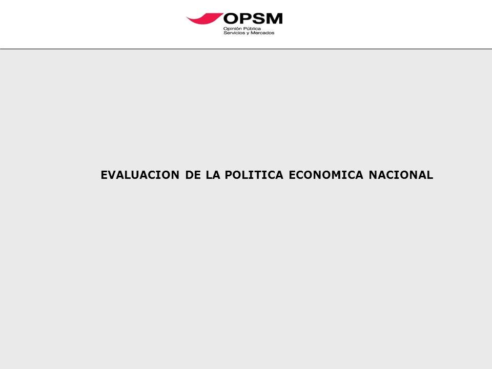 EVALUACION DE LA POLITICA ECONOMICA NACIONAL