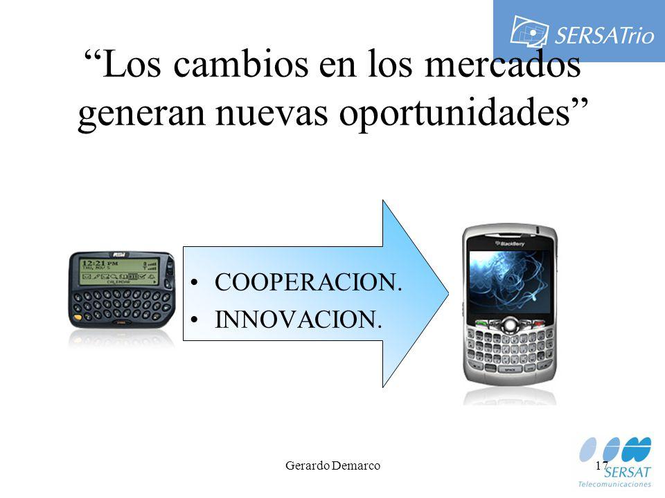 Gerardo Demarco17 Los cambios en los mercados generan nuevas oportunidades COOPERACION. INNOVACION.