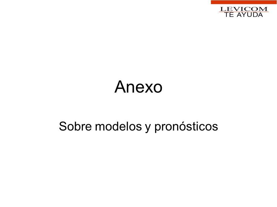Anexo Sobre modelos y pronósticos