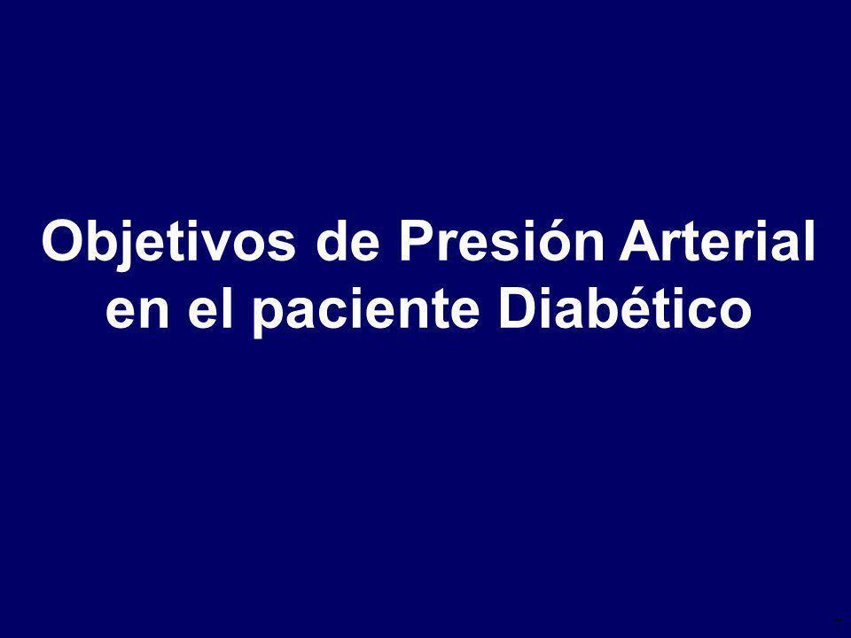 7 Objetivos de Presión Arterial en el paciente Diabético
