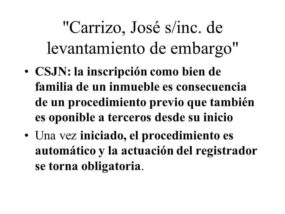 Carrizo, José s/inc.