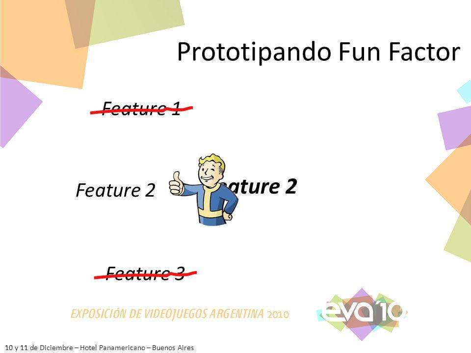 10 y 11 de Diciembre – Hotel Panamericano – Buenos Aires Prototipando Fun Factor Feature 1 Feature 2 Feature 3 Feature 2