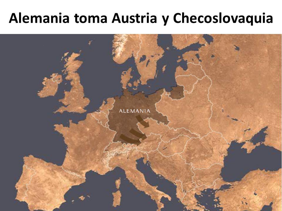 Alemania toma Austria y Checoslovaquia