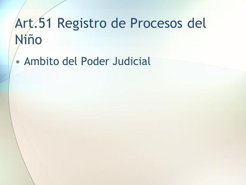 Art.51 Registro de Procesos del Niño Ambito del Poder Judicial