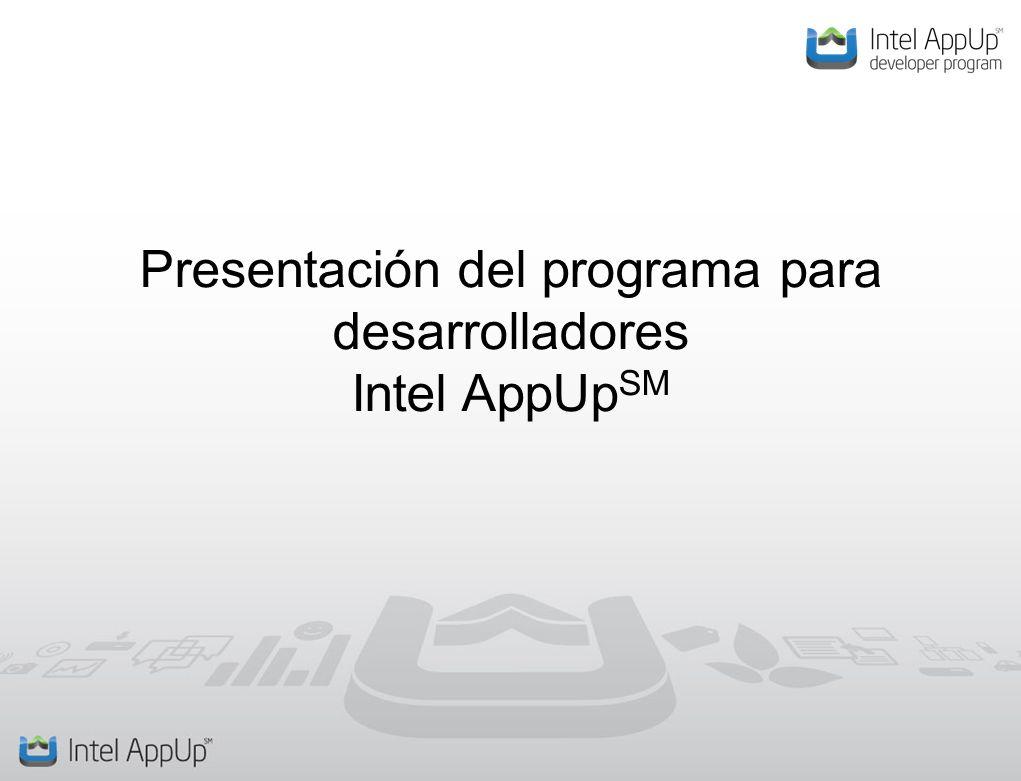 Presentación del programa para desarrolladores Intel AppUp SM
