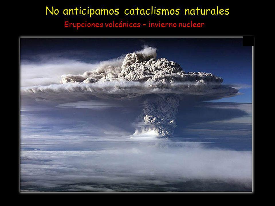 Erupciones volcánicas – invierno nuclear