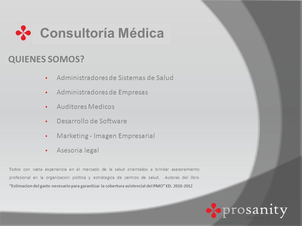 Consultoría Médica VALORES Compromiso Responsabilidad Seriedad Integración Innovación Profesionalismo Honestidad Respeto
