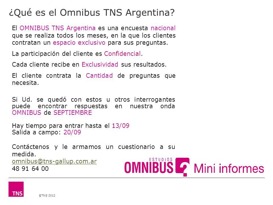 ©TNS 2012 ¿Qué es el Omnibus TNS Argentina.